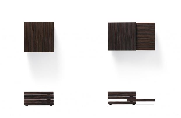 Rotor tavolino giorno design Luciano Bertoncini per Kristalia