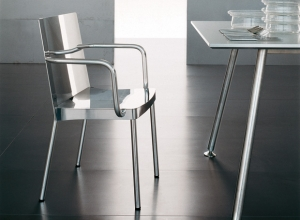 Tri.be.ca aluminium chair designed by Luciano Bertoncini
