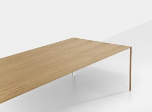 New input for Thin-K table from Kristalia at 2013 Milan Furniture Fair. Designed by Luciano Bertoncini